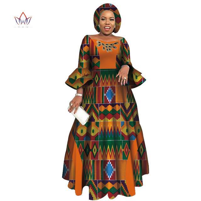 Платья с длинным рукавом для женщин вечеринка свадебные повседневные даты Дашики африканские женщины платья африканские платья для женщин WY3819