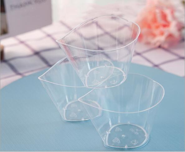 Small beak mousse cup pudding jelly ice cream dessert PS disposable hard plastic cup tip creativity