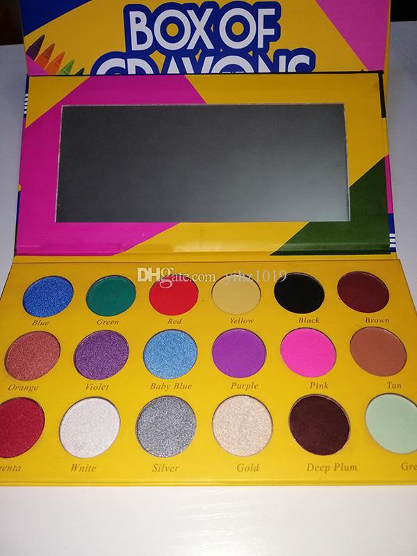 NEWest Makeup 18 colors eyeshadow platter Box of Crayons iShadow Eyeshadow Palette Makeup BRONZE CHROME/STROKE/EXPRESSION Eyeshadow DHL
