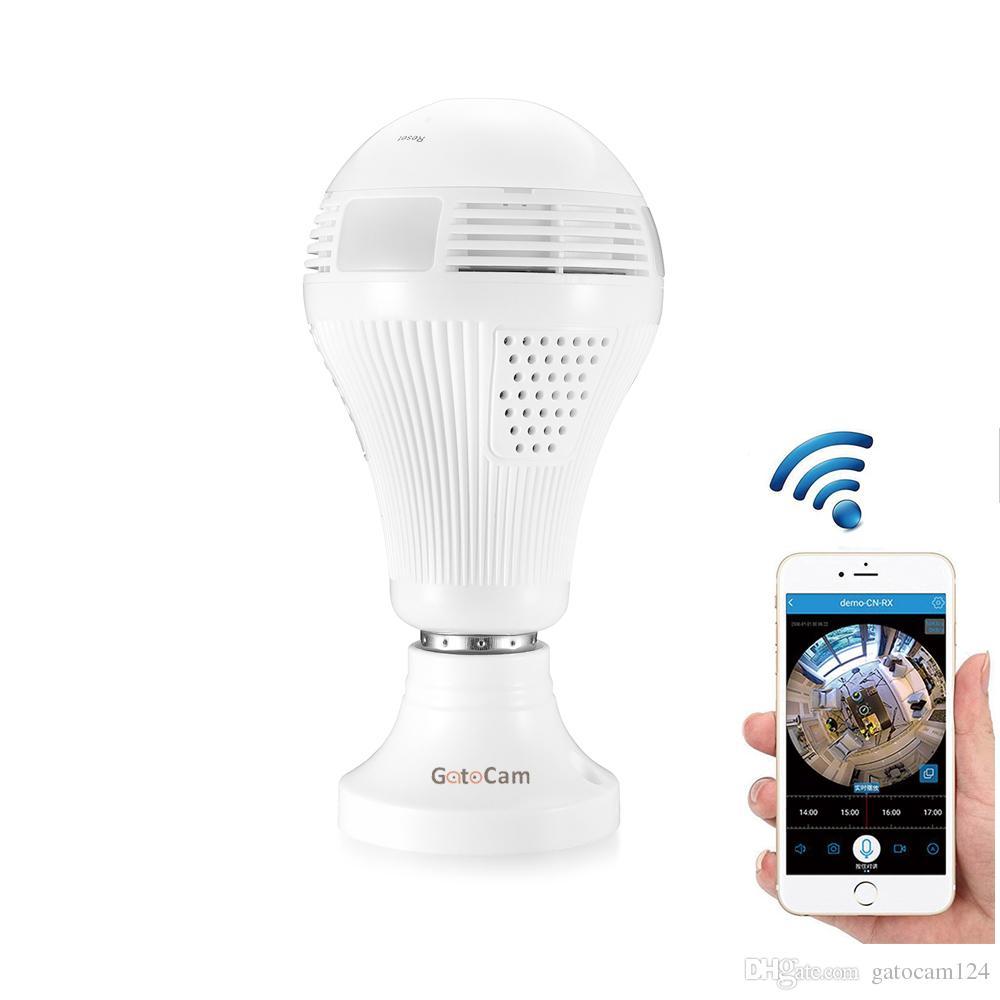 HD 960P 360 Security wifi Camera Lamp Panoramic Bulb Video Surveillance Fisheye HD Night Vision Two Way Audio