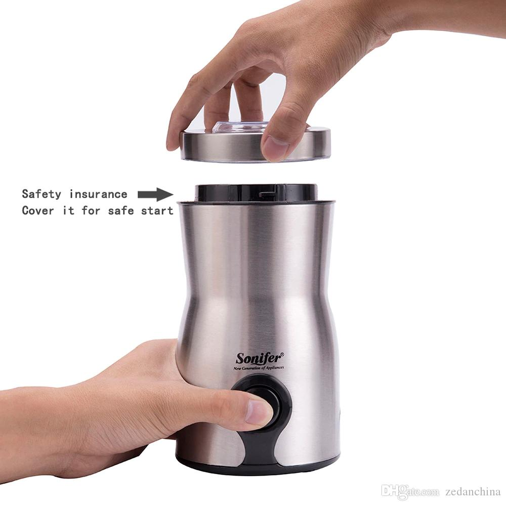 CKV-35 free shipping Mix and Match Welcome Mini High quality Electric Coffee Grinder maker Stainless Steel Beans Mill Herbs Nuts Sonifer