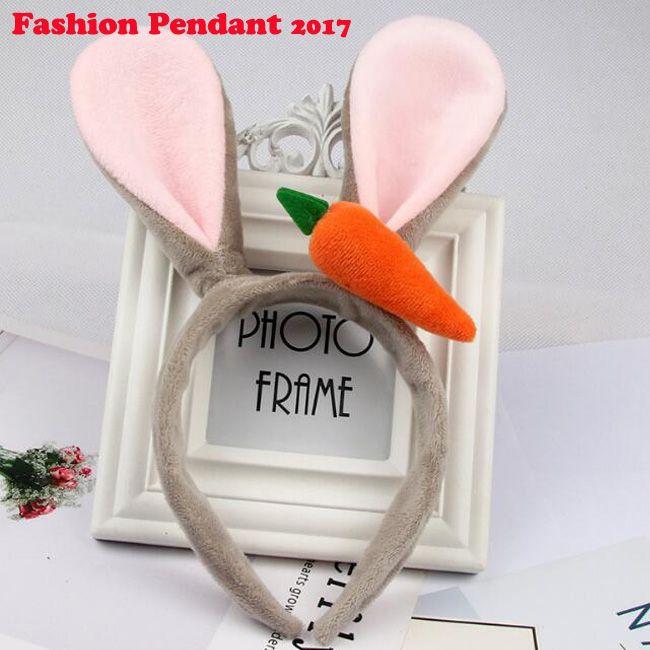 Carino Bunny Rabbit Ear carota peluche Copricapo fascia per capelli orecchie di volpe Fascia per capelli Accessori per le donne ragazza
