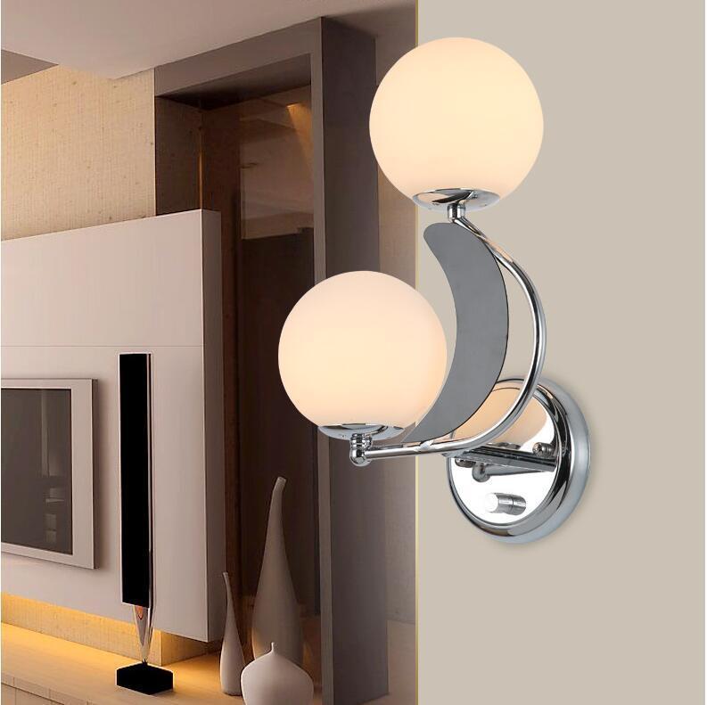 Lampada da comodino parete del soggiorno camera da letto doppia testina LED Corridoio Corridoio Balcone Luci semplice e cordiale Wall Light