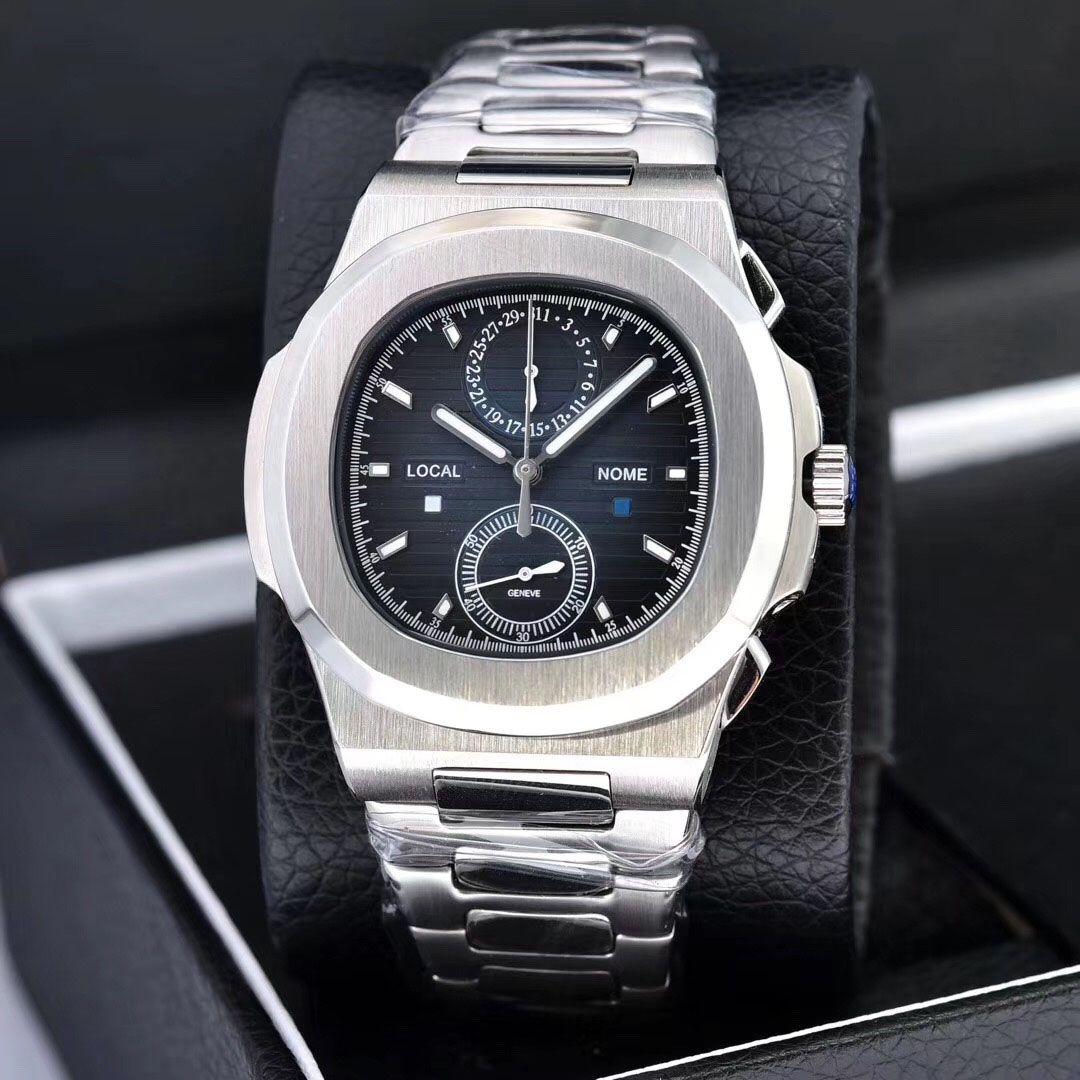 Saatler Chronograph Kronometre Erkek Saatler Su geçirmez saatı Takvim VK64 Moda İş Erkekler İzle montre de luxe Relojes Soğuk