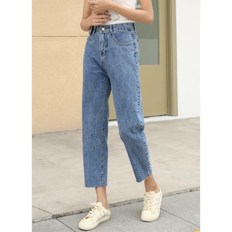 Hxjjp 2020 harém Pants Vintage High Waist Jeans mulher namorados Jeans Mulheres Calças de ganga comprimento mãe Cowboy Calças de ganga