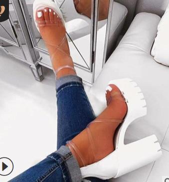 Женские сандалии 2020 лето новый Женская обувь Мода Водонепроницаемые платформы на высоких каблуках сандалии женщин