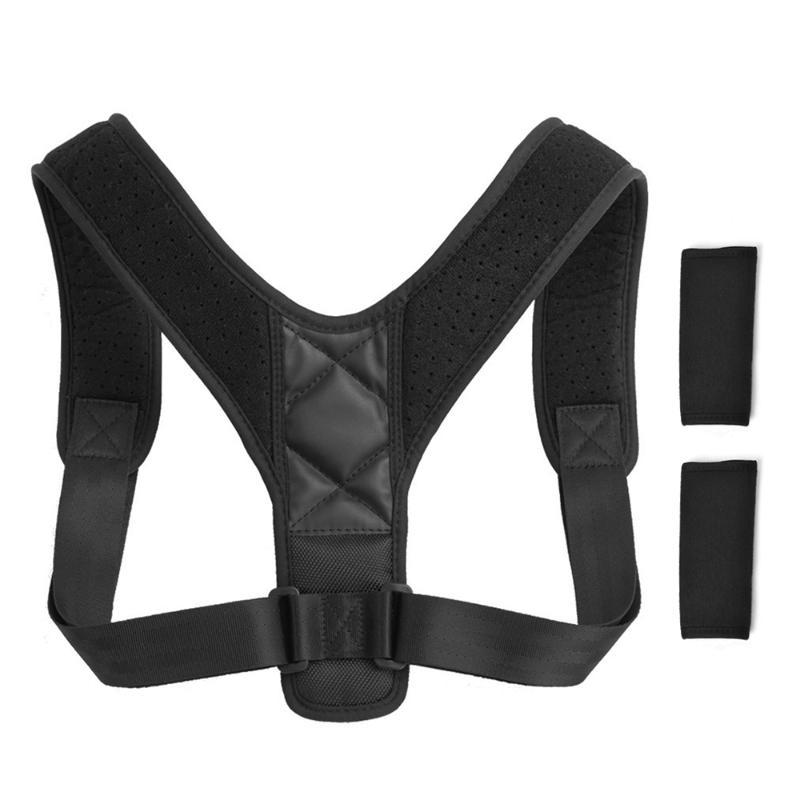 Posture Corrector with Shoulder Pads Men Women Adjustable Back Trainer Shoulder Straps Back Brace Support