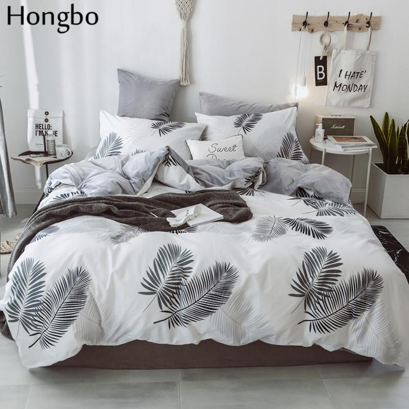 Set Hongbo cotone cristallo flanella Bedding Con Copripiumino lenzuolo dei bambini scherza il bambino di inverno foglie Lenzuola