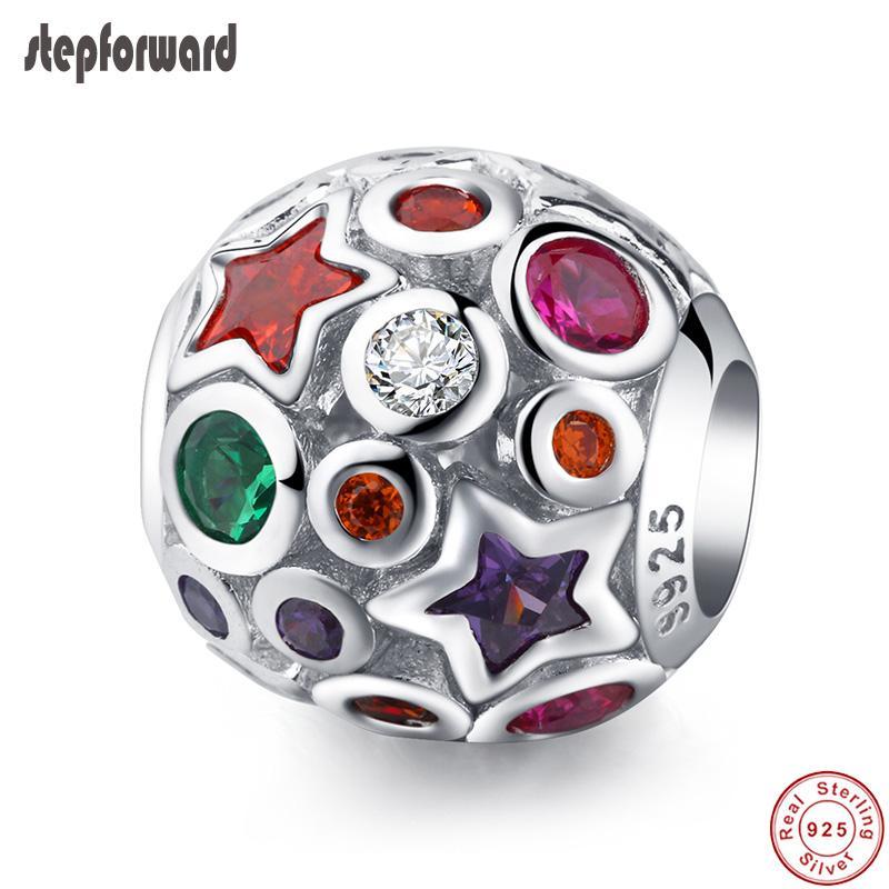 Красивейший Высокомарочный Цветастый Вымощенный Камень 925 Реальный Серебряный Кристаллический Браслет Пригонки Шарма