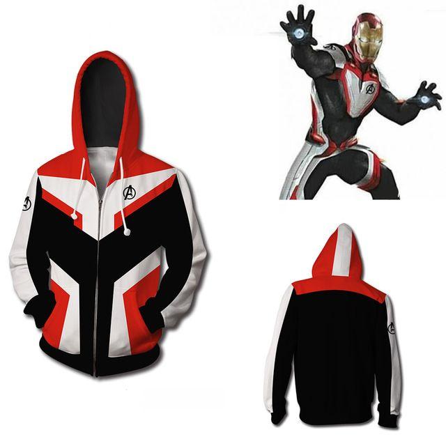 Avengers Endgame Quantum Realm Adult Kids Cosplay Sweatshirt Hoodie Jacket