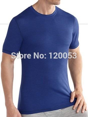 Oriente peso 180GSM Mens 100% lã Merino Camiseta de manga curta, Mens Merino Lã manga curta Baselayer, 5 cores, American Fit