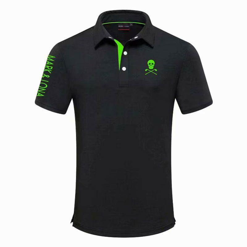 Los hombres del nuevo del verano de manga corta de la camiseta del golf MARKLONA Deportes Campo de ropa Ocio camisa Badminton Correr béisbol Ocio camisas Deporte