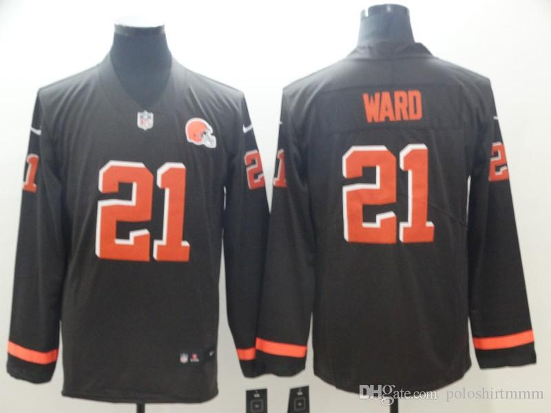 timeless design 883d3 8bef1 2019 Denver Men Broncos 6 Baker Mayfield Jersey 21 Denzel Ward Therma  American Football Long Sleeve Jersey From Swx3, &Price; | DHgate.Com
