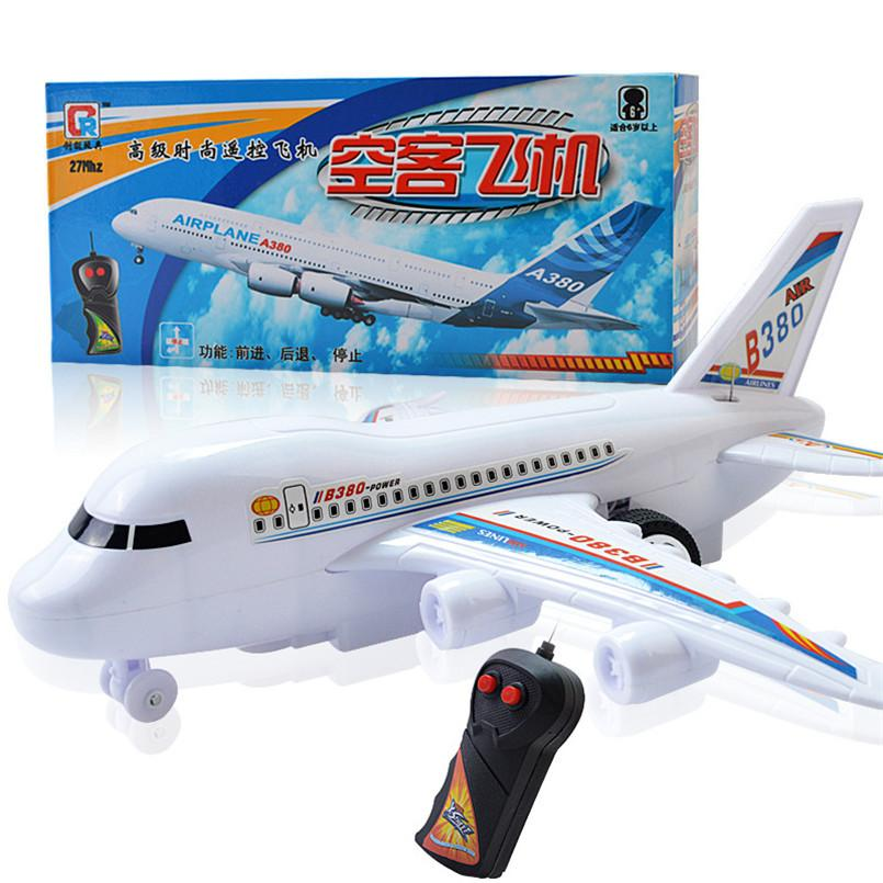 RC Airplane Model Outdoor Toys For Kid Boy Remote Control Plane Plastic Electrical Air Plane Children Birthday Gifts No Flying MX200414