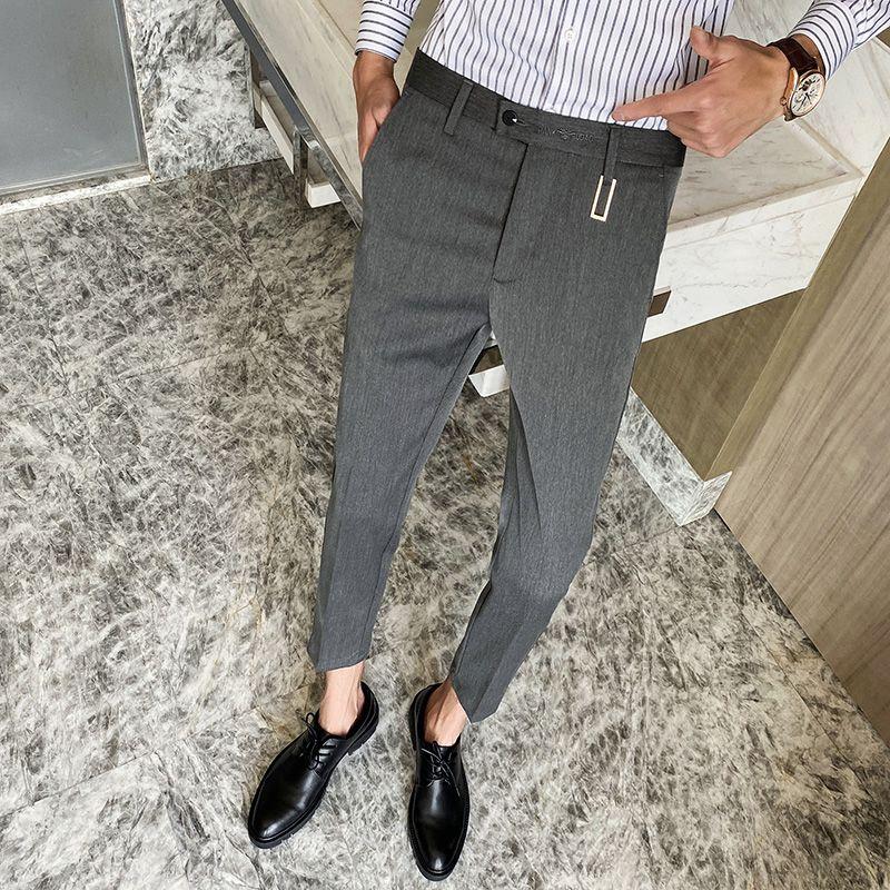 High Quality Men Wedding Dress Pants Slim Fit Business Formal Suit Pants for Men Streetwear Casual Office Social Trousers 28-36