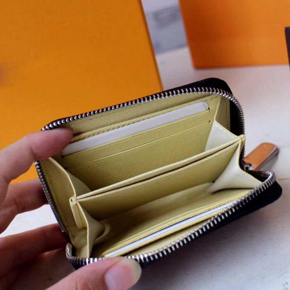 La última bolsa de la moneda del diseñador de lujo de la moda para las mujeres pequeña cremallera cartera titular de la tarjeta diseñador bolsos de lujo monederos señora monedero carteras