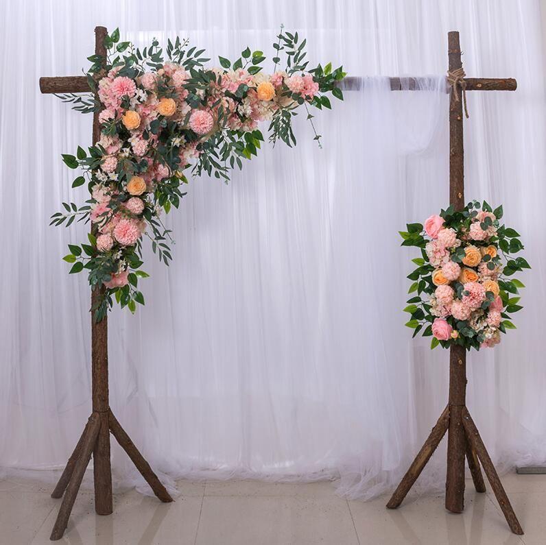 100 센치 메터 꽃 벽 웨딩 도로 가이드 아치 무대 장면 레이아웃 창 사진 스튜디오 사진 꽃 도로 리드 홈 장식