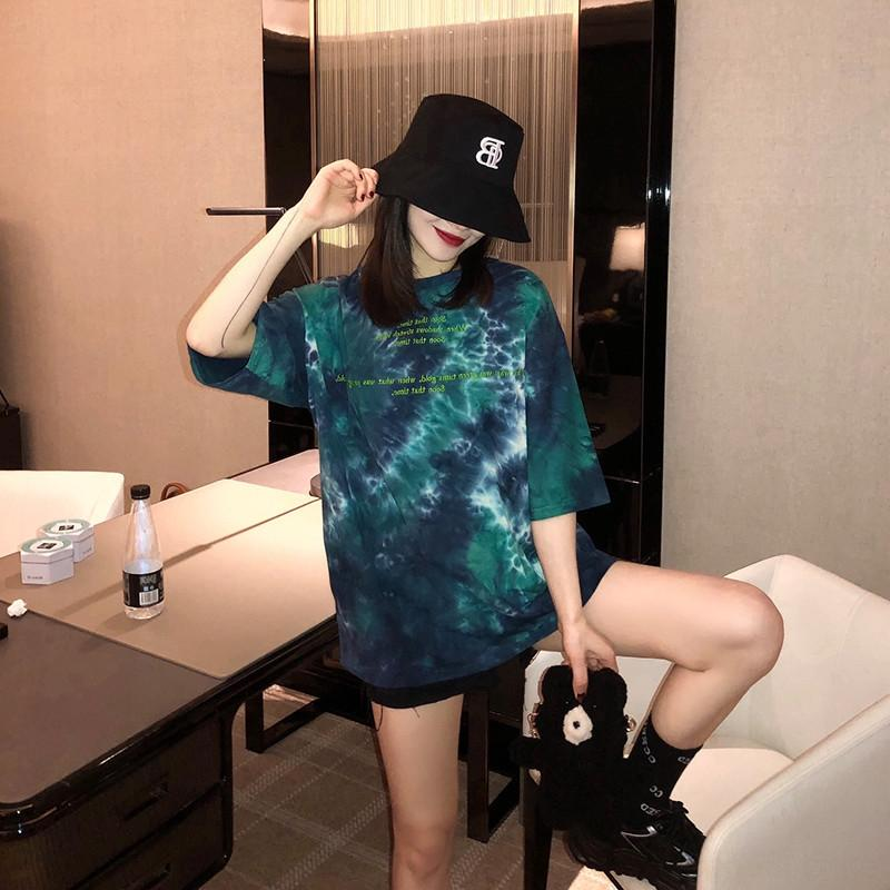 Short-sleeved women's summer loose underpants ins Chaoyang style top Half sleeve base Short-sleeved T- women's summer loose underpants ins C