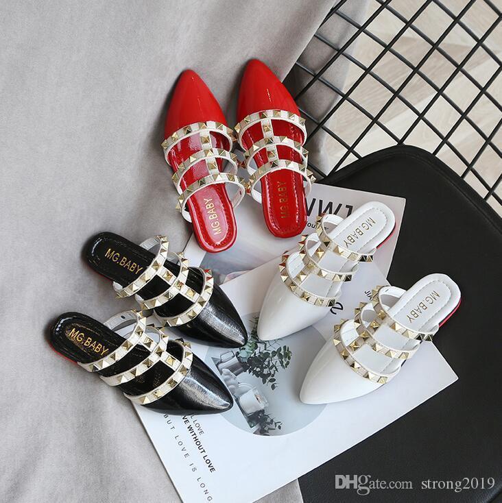 2020 primavera y el verano nueva chica deslizadores de la manera zapatos de la princesa romana sandalias de los niños niñas antideslizante zapatos Baotou
