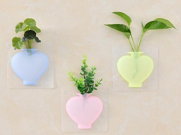 냉장고는 실리콘 모양 꽃병 물 새로운 흡입 컵 벽 소프트 꽃병 욕실 스티커 매달려로 채워질 수 붙여 넣기