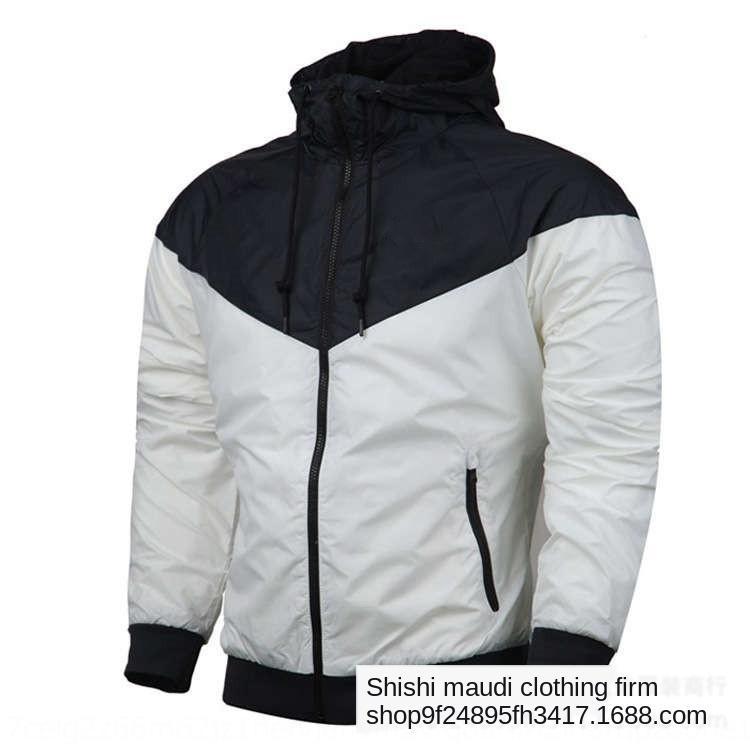 d1whY Spor WINDBREAKER rüzgarlık ceket 5.441.200 çalışan gençler ceket gevşek erkekler rahat rüzgar geçirmez kapüşonlu