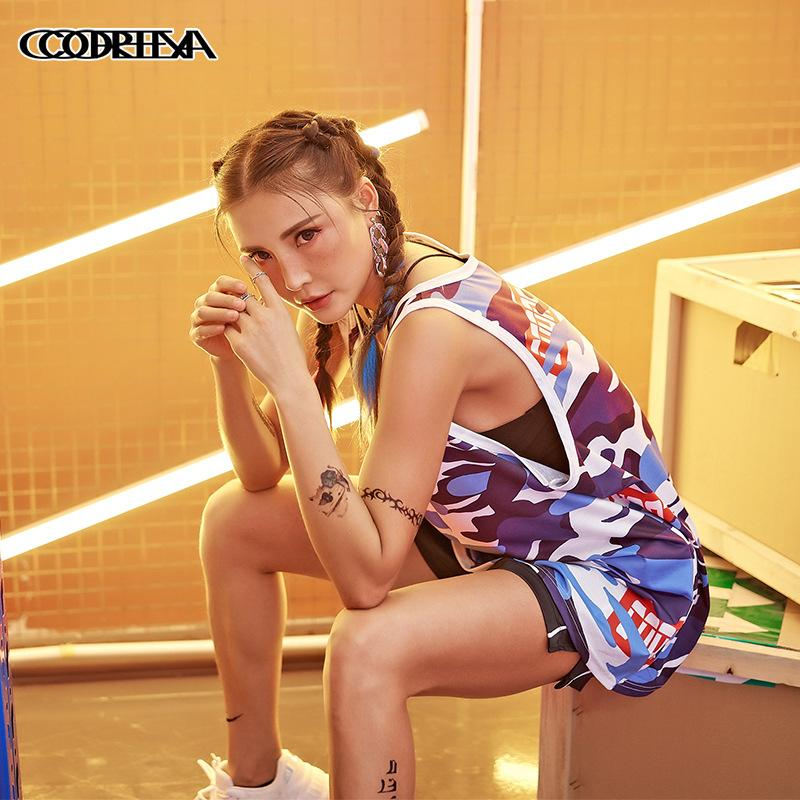 loose sleeveless hip hop tops female Patchwork tank top ladies Streetwear Camouflage summer Cotton sexy tops women clothes 2020