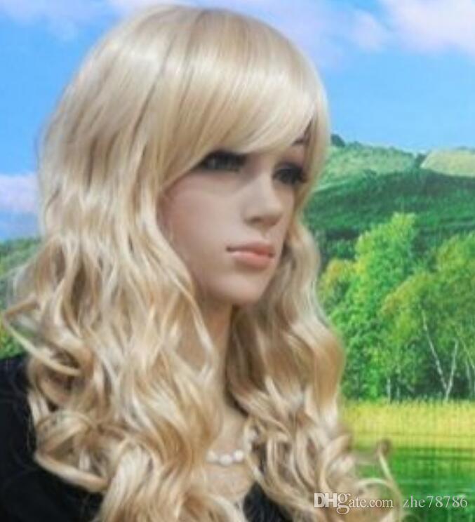 LL 2092 Косплей длинная блондинка Mix кудрявый женский парик / wigsdszfvsdzgvsdfg