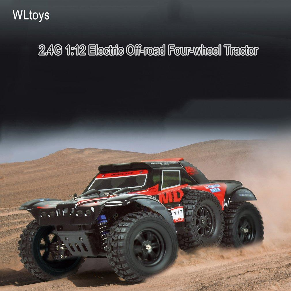 wholesale 124012 Electric RC Climber Car Toys 540 Brush Motor 2.4G 1:12 Off-road Four-wheel Tractor Automatic Vehicle RC Racing Car