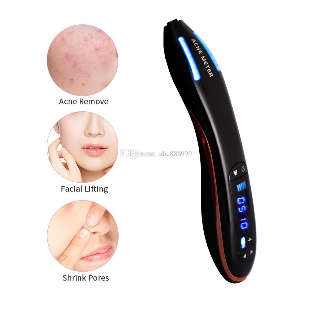 Blaues Licht Plasma Pen Narbe Akne Entfernung Maschine Anti-Falten schrumpfen Poren Ozon-Therapie Pen Gesichtspflege Werkzeug-Schönheits-Gerät