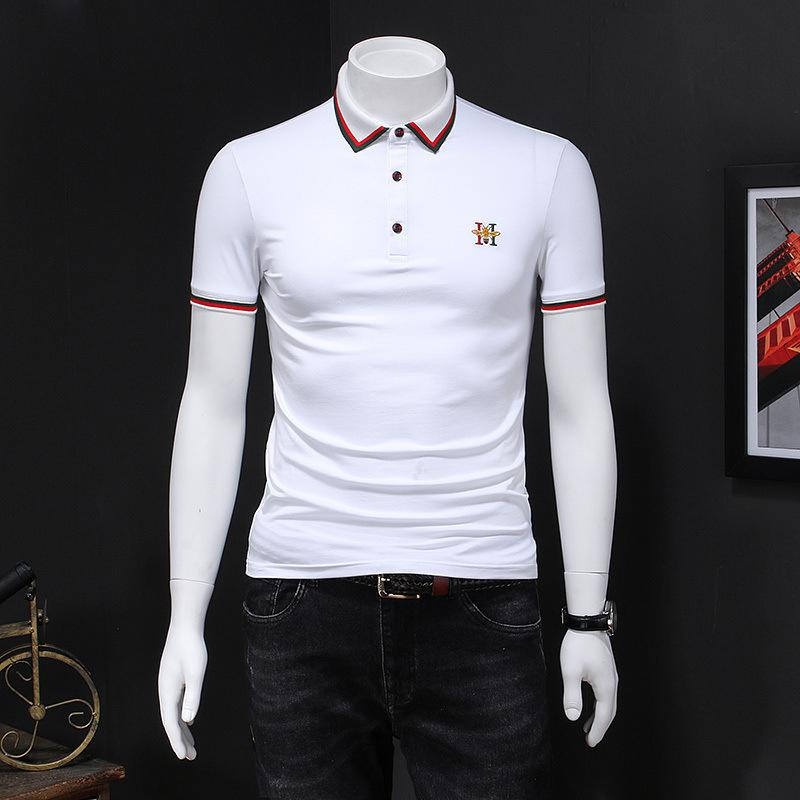 2020 hombres de alta calidad de manga corta de moda de verano camiseta casual cómodo cuello redondo camiseta ropa de moda 9EAN