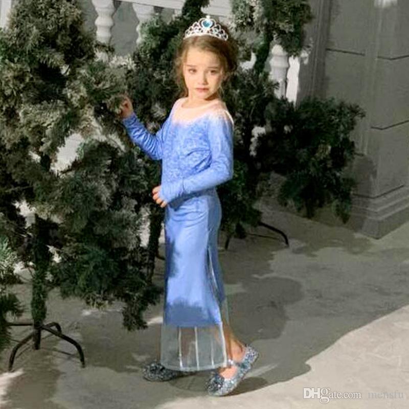 Внешней торговли детская одежда замороженные платье принцессы замороженные платье второй девушки платье осень Европейский и американский детская E200339