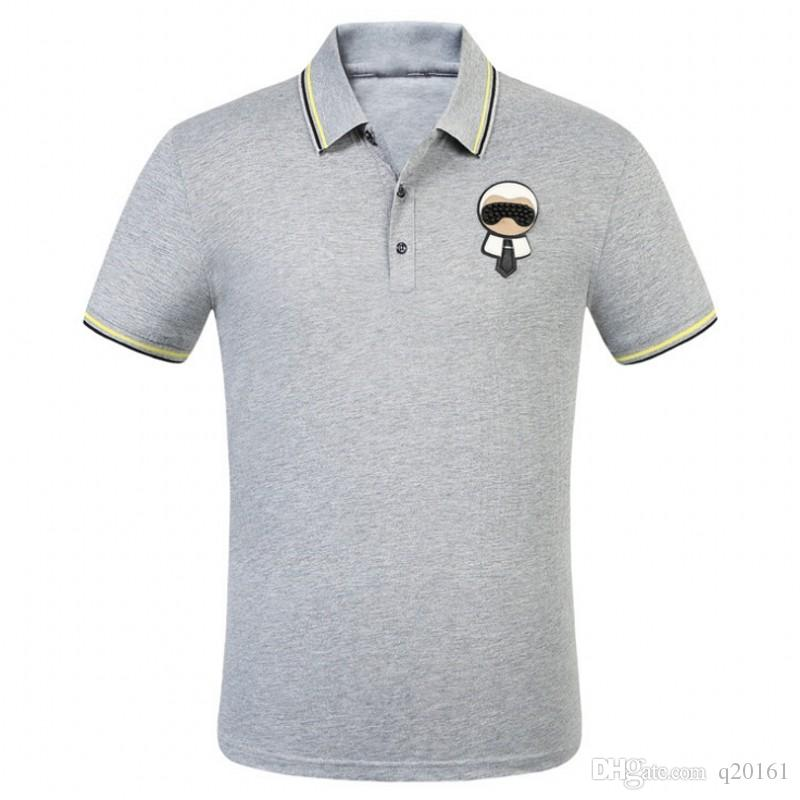 Summer Fashion Tops Polo Shirt Camicia T T-Mens Camicie Polo Tag Cotone T T-Shirt Top Uomo Ricamo HNGSM