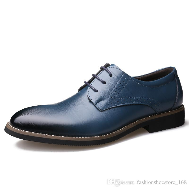 Mens Dress Shoes Genuine Leather