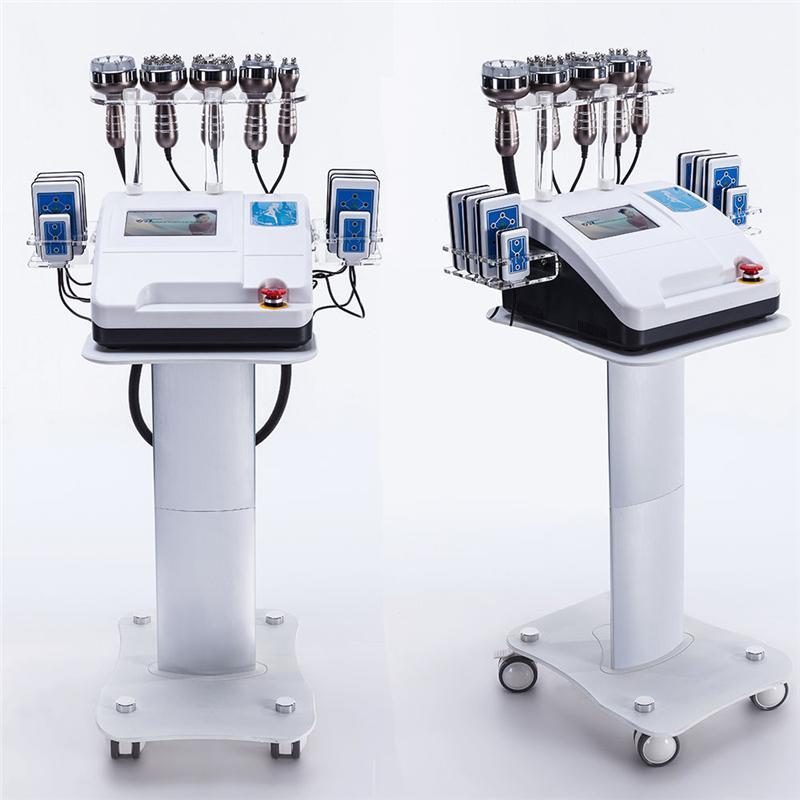 2019 más nuevo 6 en 1 Lipo Laser + Cavitation + RF + Vacuum / RF 40K Cavitation Vacuum Lipolaser Máquina de pérdida de peso corporal adelgazante