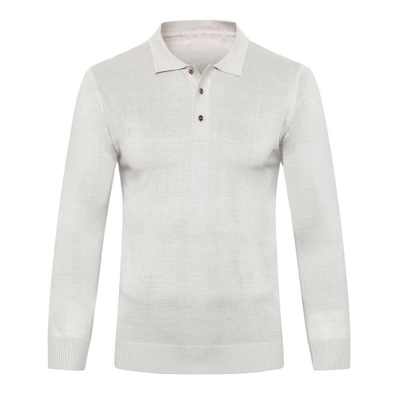 Миллиардер свитер шерстяной мужской 2019 Новый Осень Зима мода кнопка комфорт бизнес повседневная вышивка M-5XL бесплатная доставка
