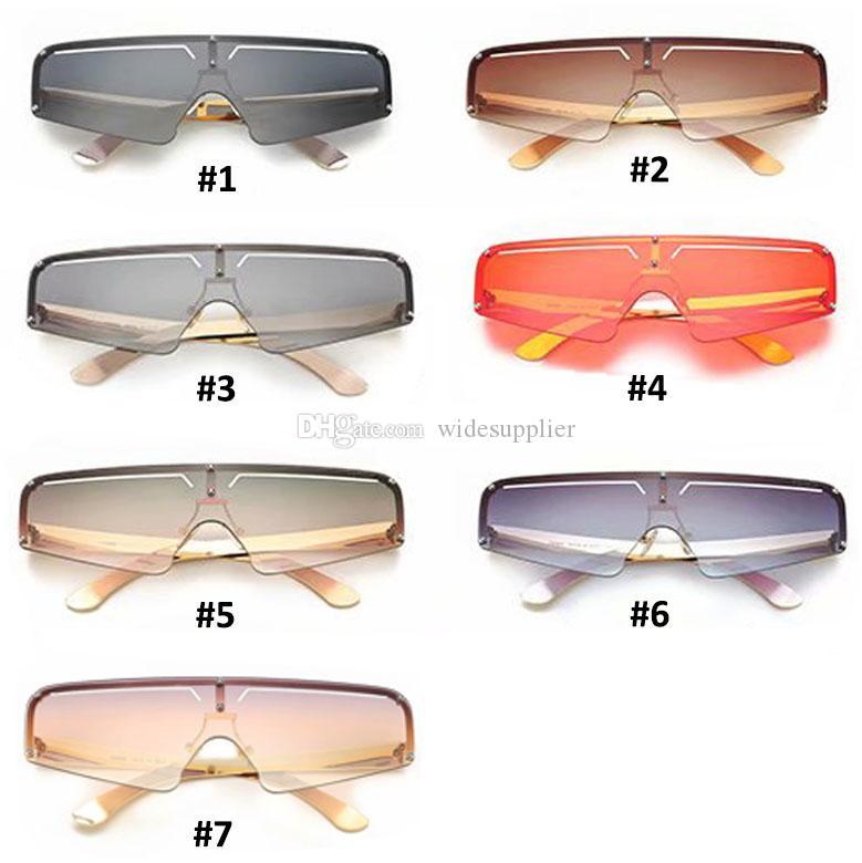 Brand Дизайнерские солнцезащитные очки для женщин Мужчины Большие рамки моды Sun очки очки Роскошные очки женщин Прохладный Vintage Солнцезащитные очки 7 цветов