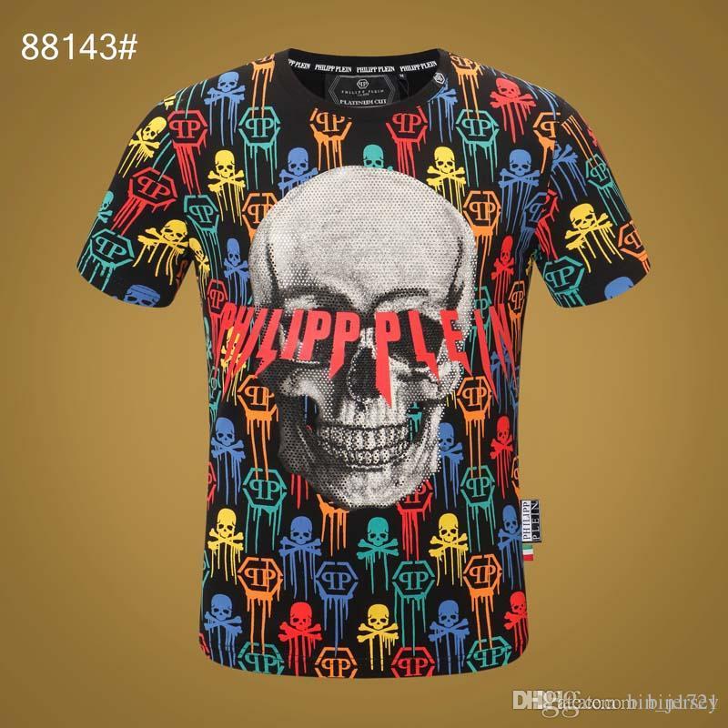 2020 la primavera e l'estate nuova 18SS cotone di alta qualità di stampa girocollo manica corta T-shirt pannello Dimensioni: S-L-XL-xxxl- Colore: bianco nero M733