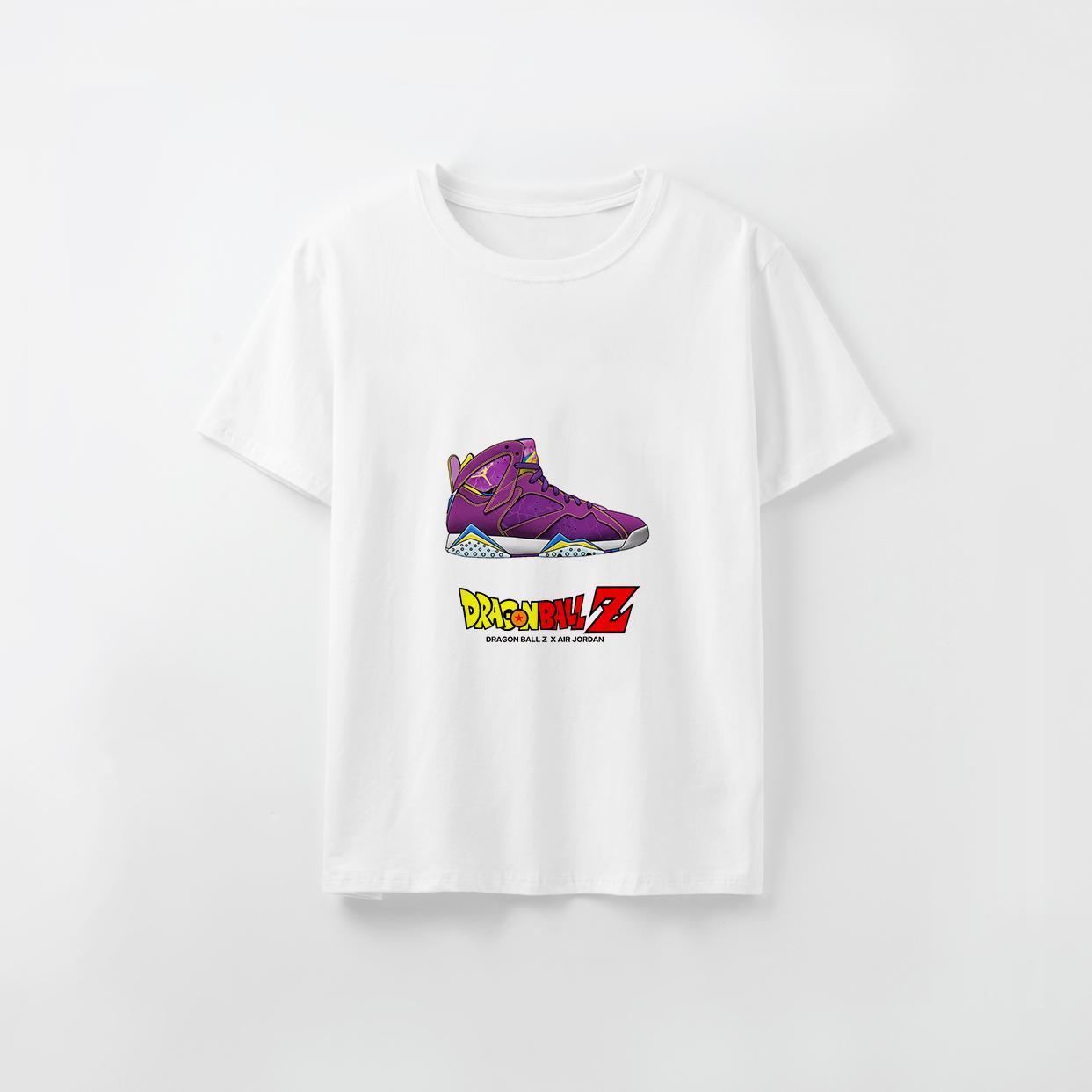 Дизайнер Tshirt Custom напечатан мужской Luxury тенниска для женщин Dragon Ball X Sneaker Printed Модального аним Top Не тегов и этикетки DIY20200801X