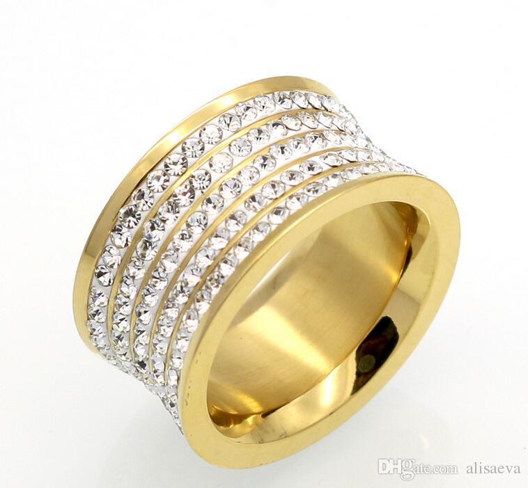 Кольцо с бриллиантом с пятью кольцами в полной грязи Кольцо с бриллиантами в мужском и женском стиле