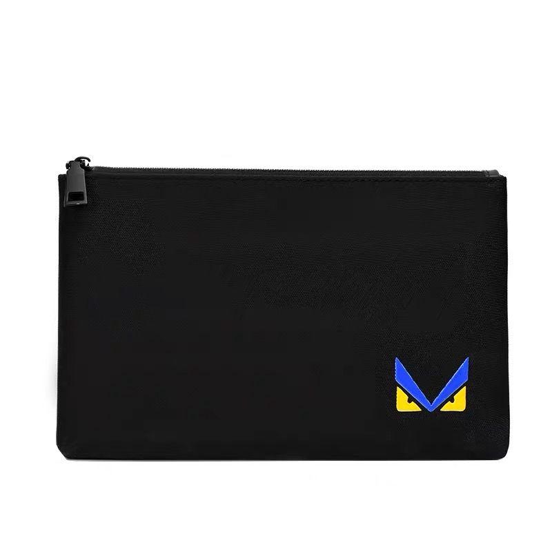 Black color wholesale oxford material clutch bag/new design monster printing bag wholesale oxford clutch bag