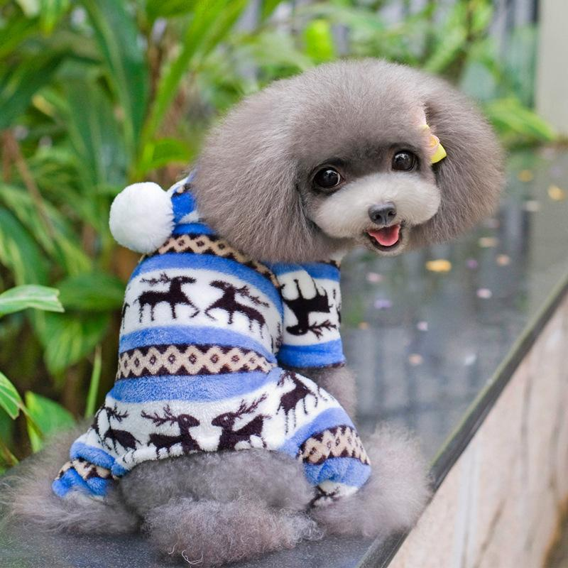 الشتاء كلب الملابس الأزياء pet جرو دافئ المرجان الصوف الملابس الرنة ندفة الثلج سترة الملابس كلب صغير معطف هوديس s dbc DH0984