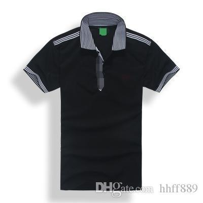 2018 quente alta qualidade Hot Summer Sale lapela Polo camisa de algodão de manga curta Homens Esporte Polo Striped Casual moda frete grátis