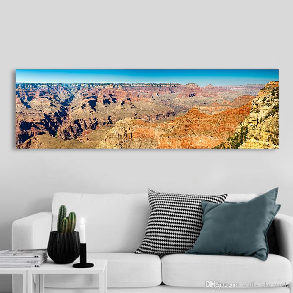 1 Pièce Mur Art Affiche Toile Art Print Paysage Peinture Panoramique Far West Mur Photo Pour Le Salon No Frame