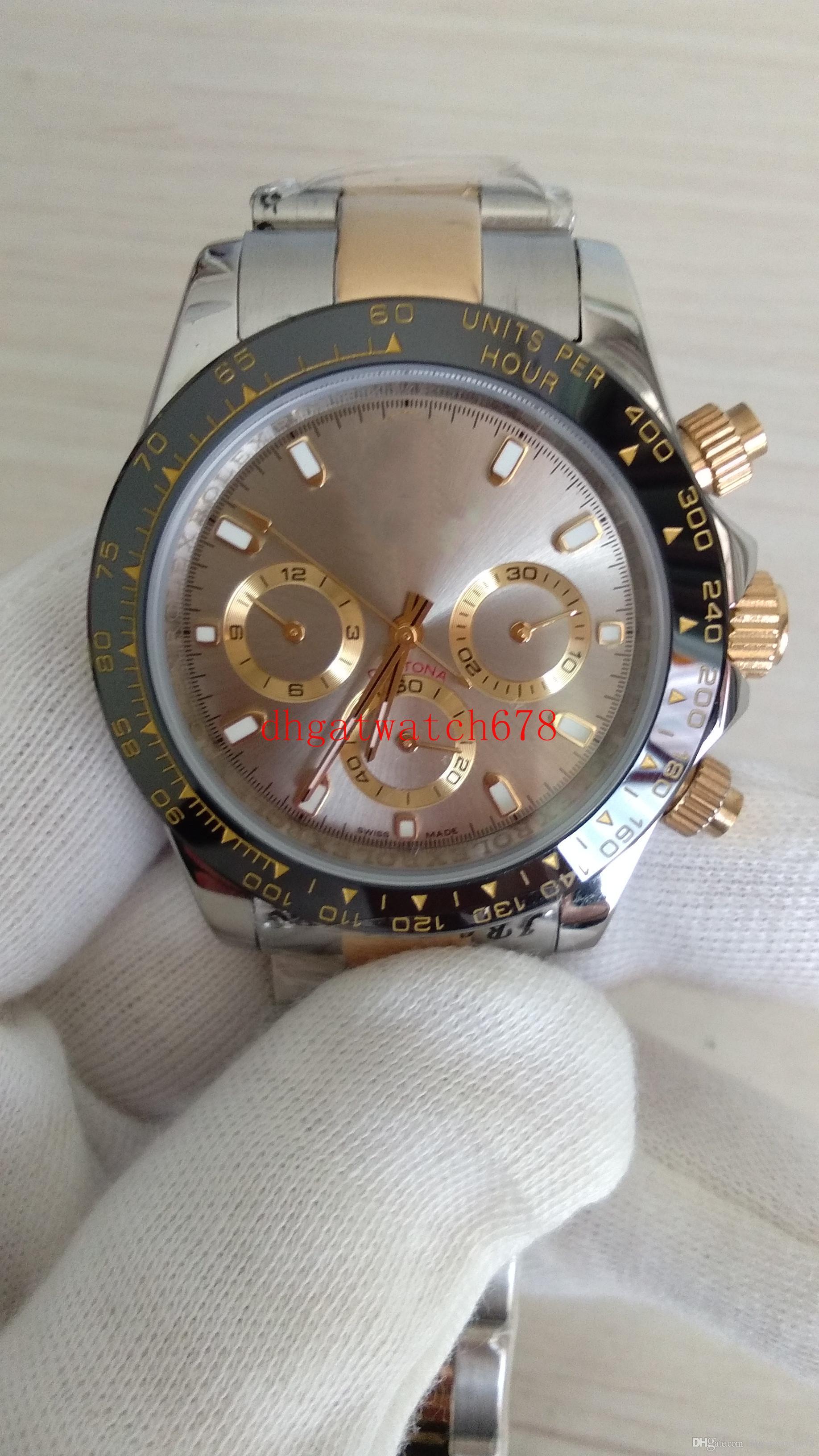 Hohe Qualität Uhr 40mm 116508 116528 Cosmograph Nein Chronograph 18k Gelbgold Mechanische Automatik Herren Herrenuhren