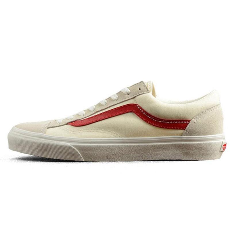Acheter Authentique Vans Old Skool Hors Du Mur Mens Femmes Skateboarding Noir Blanc Rouge Peur De Dieu Classique Sport Baskets Chaussures En Toile
