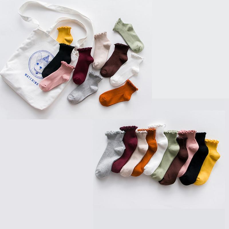 Femmes Mode Socquettes de loisirs dentelle pour les femmes Calcetines Socken