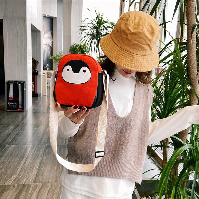 2020 yeni değişiklik tuval çantası cep telefonu çantası yaz moda vahşi küçük omuz haberci küçük dişi