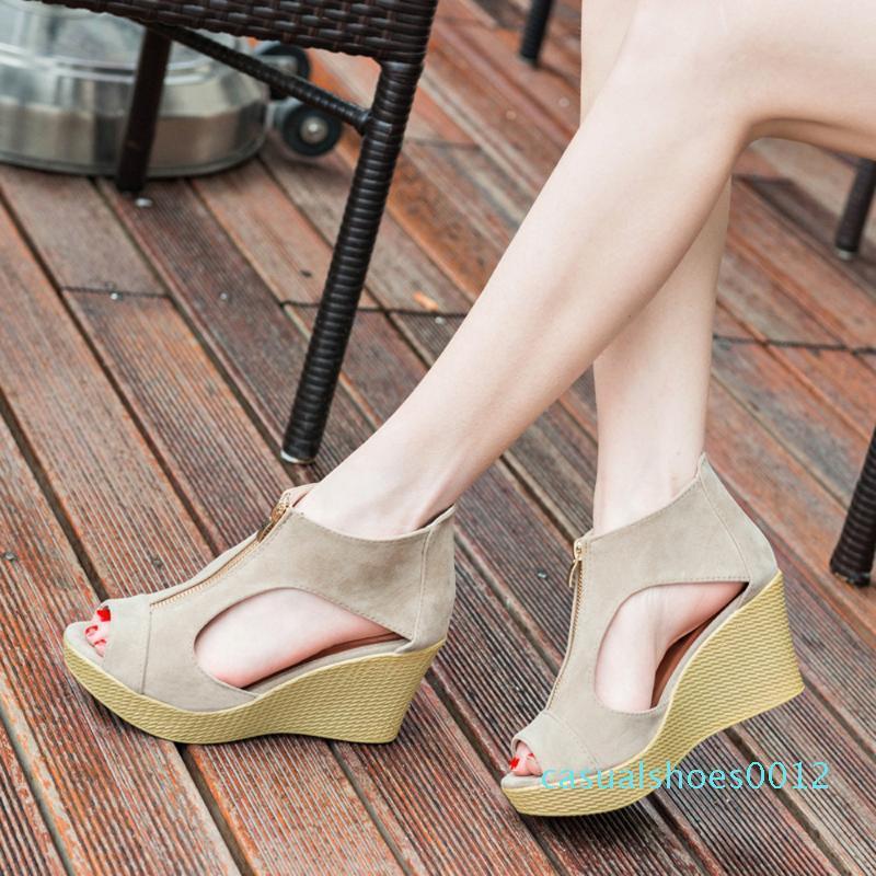 JAYCOSIN Sandalet Kadınlar Kadınlar Yakın Burun Seksi 2020 C12 Yaz Sandalet Casual Platform Wedges Ayakkabı Wedges Ayakkabılar