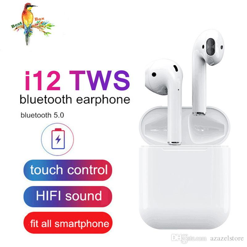 2019 Must-have i12 TWS i10 Wireless Earphone Bluetooth Earphones Touch Control & 3D Stereo Earbuds for iPhone x Samsung All Compatible