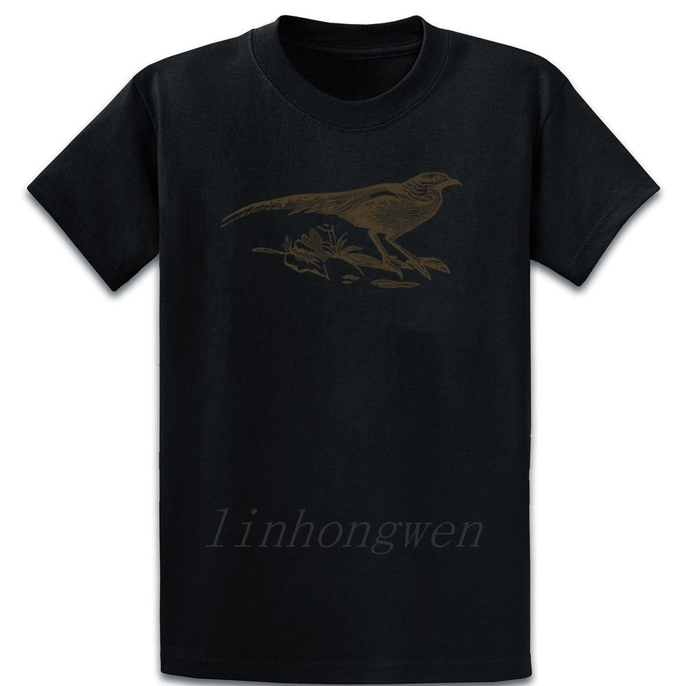 Long Tail silueta del pájaro camiseta Familia del resorte flojo ocasional otoño personalizada de manga corta camisa de cuello redondo